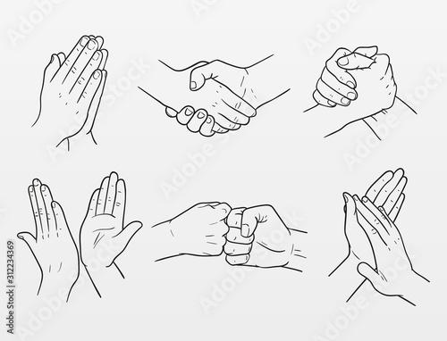 Vászonkép set of hand drawn vector