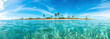 canvas print picture - Panoramic picture of Sandspur Beach on Florida Keys in spring during daytime