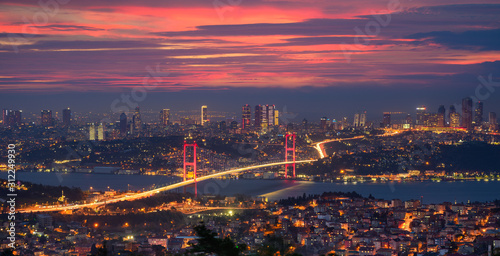 Bosphorus bridge in Istanbul, Turkey Canvas Print