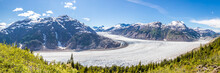 Panorama Of Salmon Glacier And...
