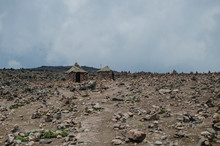 Huts With Rocks