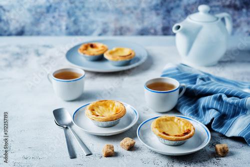 Portuguese custard pies, Pastel de Nata or Pastel de Belem Tableau sur Toile