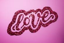 Hand Lettering Love In Sparkling Glitter