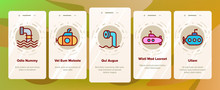Periscope Onboarding Mobile App Page Screen Vector. Military Submarine Vision Equipment Periscope, Nautical Boat Device Illustrations
