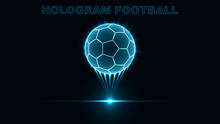 Eps10. Hologram Of A Soccer Ba...