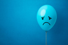 Stock Photo Of A Blue Monday Balloon On A Blue Background