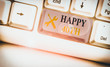 canvas print picture - Writing note showing Happy 40Th. Business concept for a joyful occasion for special event to mark the 40th year