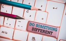 Handwriting Text Do Something ...
