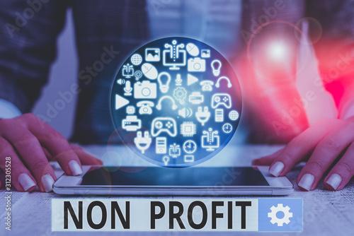 Text sign showing Non Profit Canvas Print