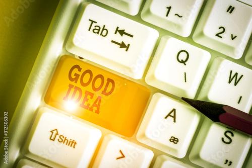 Valokuvatapetti Word writing text Good Idea