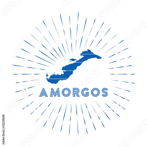 Photo Amorgos sunburst badge