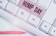 Handwriting Text Hump Day. Con...