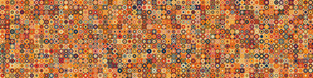 Fototapeta Pattern with random colored Circles Generative Art background illustration