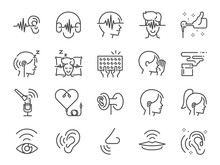 ASMR Line Icon Set. Included I...