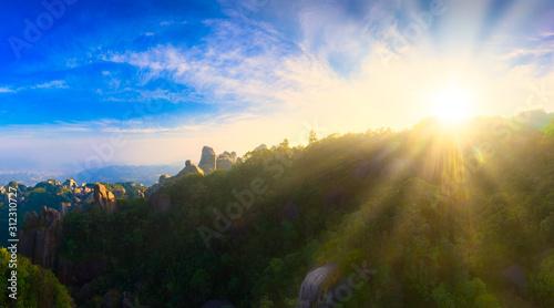 Aerial view of taimu mountain in ningde city, fujian province, China #312310727