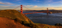 Panorama Of The Golden Gate Br...