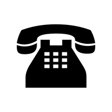 Cute Telephone Icon For Banner...