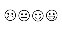 Smile Icons Vector Outline Set...