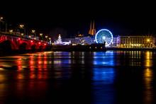 Ville De Bayonne De Nuit Avec ...
