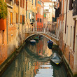 Venice in Italy, bridge and gondola