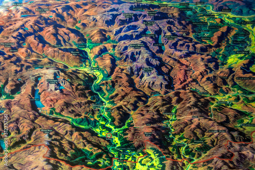 Tableau sur Toile The map of Cairngorms National Park in Scotland