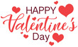 Valentine theme with words and hearts