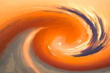 Autumn Design Orange Paints Mo...