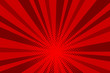 Comic red sunbeam background Retro pop art style cartoon