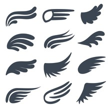 Wing Icons. Different Shapes O...