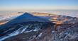 canvas print picture - Schatten des Pico del Teide im Sonnenuntergang, Blick nach Ost