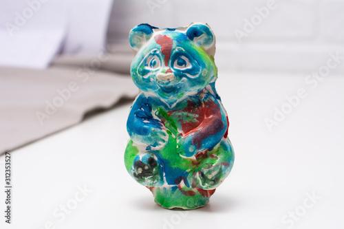 Photo Children's crafts made of plaster Bear
