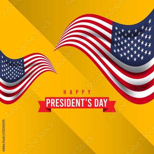 Happy President's Day Celebration Vector Template Design Illustration Fototapet