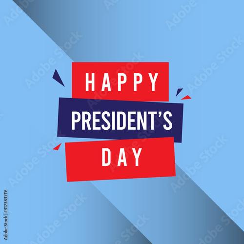 Happy President's Day Celebration Vector Template Design Illustration Tablou Canvas