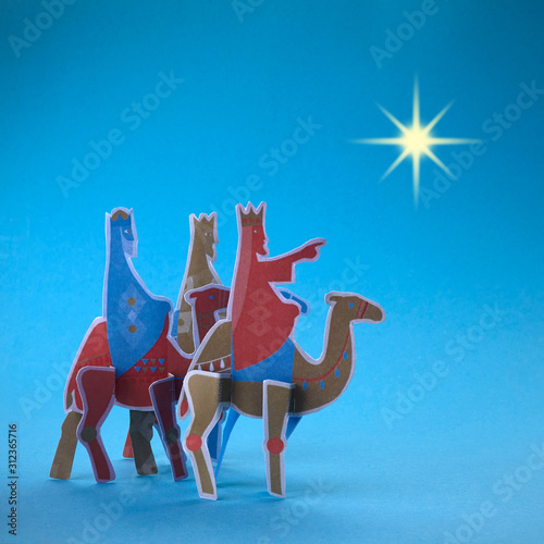 Canvas-taulu Three kings day