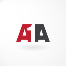 Monogram Design With Combination Letter A1A – Red And Black Color