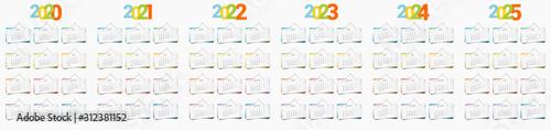 Calendrier décoratif 2020 2021 2022 2023 2024 2024 en version française, avec le Canvas Print