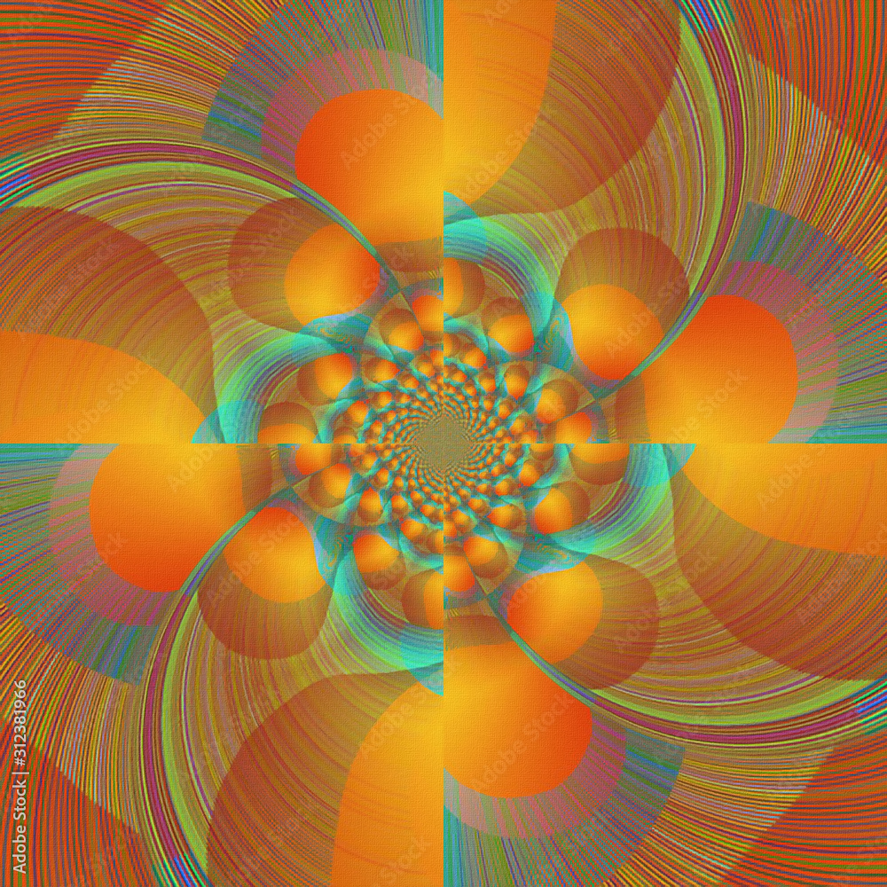 Colorful fractal. Abstract modern art