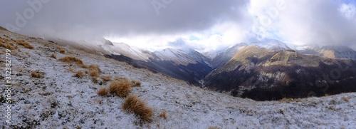 landscape Sibillini mountains, Apennines Umbria Marche Canvas Print