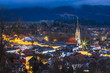 Bad Tolz, Bavaria, Germany - Evening Hillside View of the Bavarian Town Bad Tolz Set in the Isar River Valley in the Alps Mountains