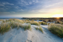 Sunrise Over Sand Dunes By Nor...