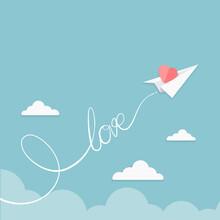 Valentine Illustration Of Pape...