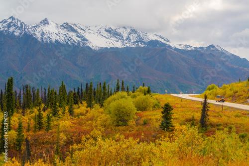Photo Matanuska glacier during fall season in Alaska