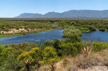 Swellendam, Western Cape, South Africa. December 2019. The Breede River Viewed From Aloe Hill, Bontebok On The Garden Route.