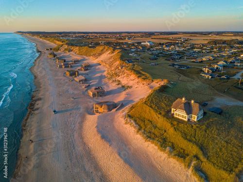 Stampa su Tela Lokken Beach - North Jutland, Denmark (Aerial)