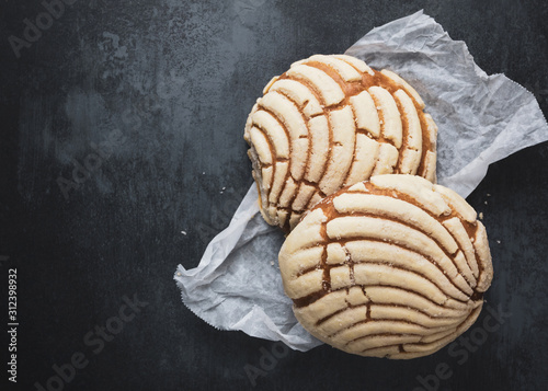 Tableau sur Toile Traditional Mexican conchas sweet bread