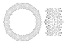 Art For Coloring Book With Flaming Wreath