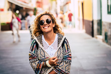 Cheerful Portrait Of Trendy Be...