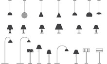 Set Of Lamps - Floor Lamp, Tab...
