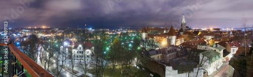 Fototapeta Panorama of medieval Tallinn obraz na płótnie