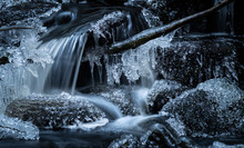 Small Waterfall In A Forest Cr...